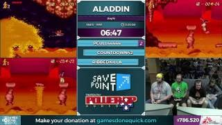 Aladdin race by Ribbedkilla, Countdown42, and pcull44444 in 19:12 - SGDQ 2016 - Part 165