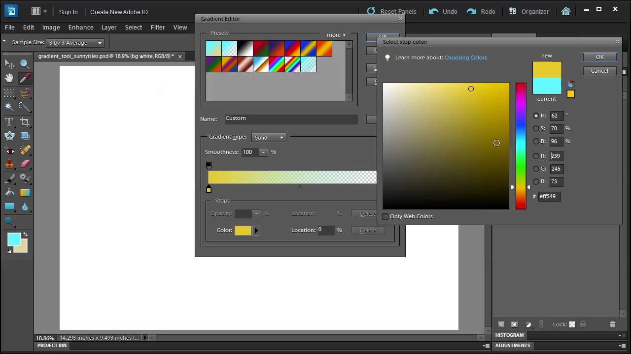 Learn how to use the Gradient Tool in Adobe Photoshop ...