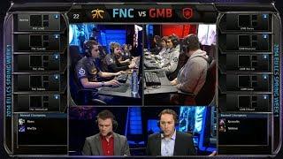 Fnatic vs Gambit Gaming | Season 4 EU LCS Spring split 2014 Super week W1D1 | FNC vs GMB