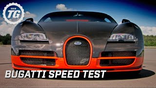 Bugatti Super Sport Speed Test - Top Gear - BBC(James attempts to break his personal speed record in a brand new, even more powerful version of the amazing Bugatti Veyron. Subscribe for more awesome ..., 2011-01-14T18:50:30.000Z)