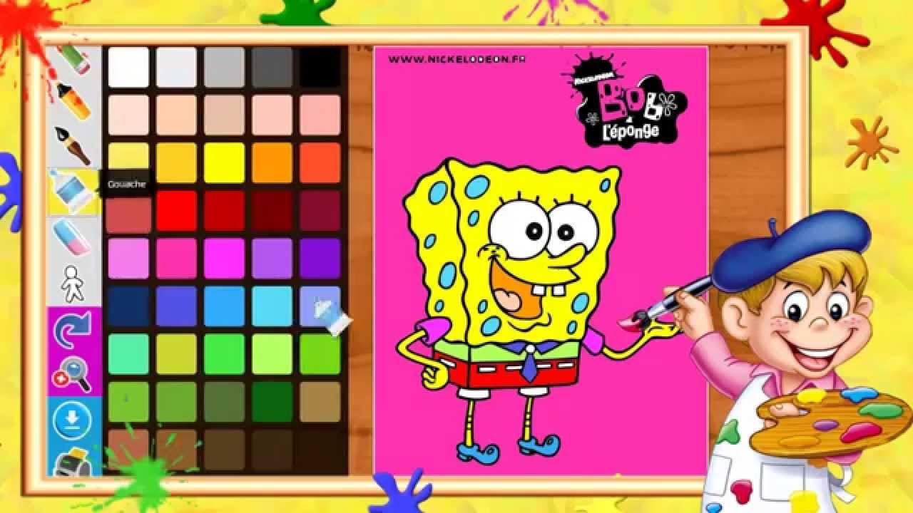 Coloriage Bob l éponge SpongeBob I Coloriages pour enfants