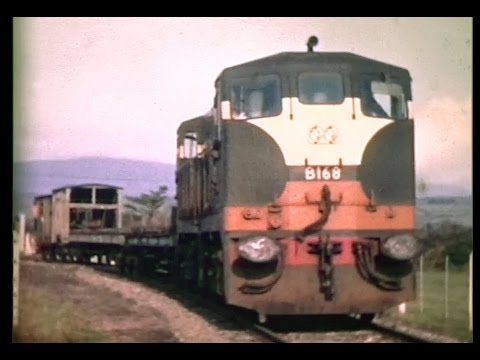CIÉ 141 Class B168 lifting train - Ballinacourty-Dungarvan (1971)