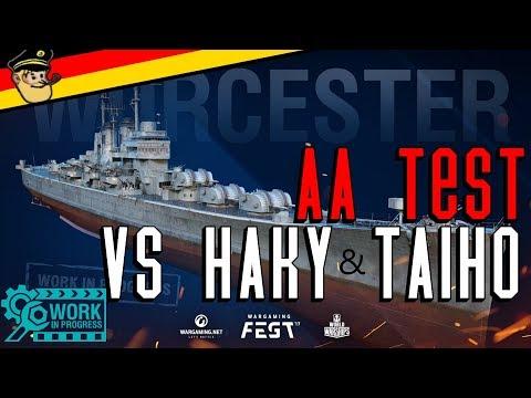 WORCESTER - AA TEST no.2 und Flugzeugträger Diskussion mit Clanmates    World of Warships