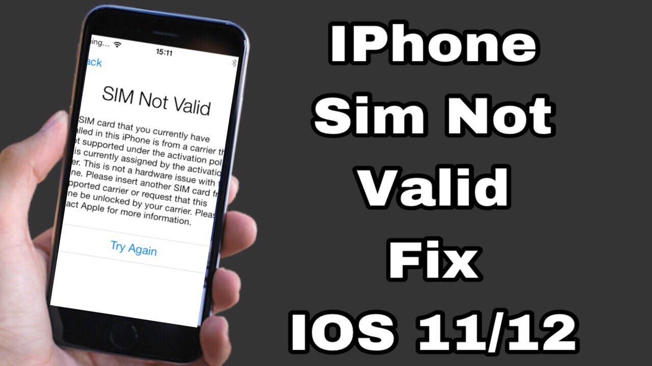 sim not supported iphone 5 how to fix quot sim not valid iphone ios 11 12 100 fix 5890