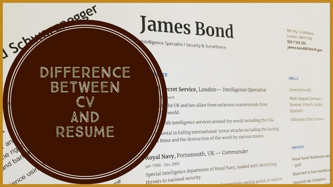 Difference between CV and Resume|CV vs Resume|ELEMENOPY ...
