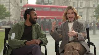 Lily James & Himesh Patel Raw Interview Yesterday
