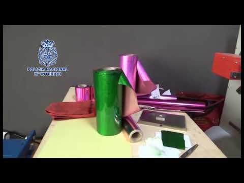 Operación de la Policía contra un laboratorio de falsificación de documentos