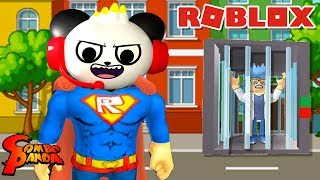 BECOMING A SUPERHERO IN ROBLOX ! Superhero Obby in Roblox Let's Play with Combo Panda!!