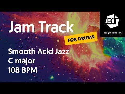 Smooth Acid Jazz Jam Track in C major 108 BPM (for drums)