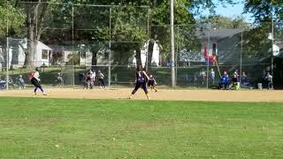 Tallmadge Force 12s -double play at Fall Ball in semi final game.