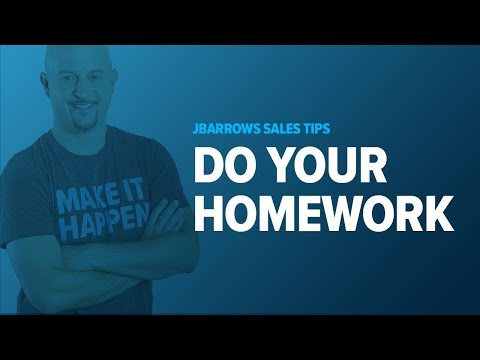 Sales Training - Show You Did Your Homework