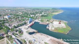 город Cкадовск и остров Джарылгач аэросъемка