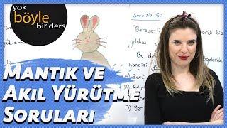 Türkçe - Mantık ve Akıl Yürütme Soruları 1