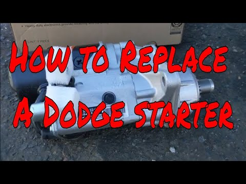 How to Dodge Ram starter replacement step by step