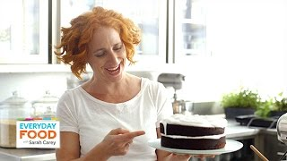 Devil's Food Cake With Fluffy White Frosting - Everyday Food With Sarah Carey