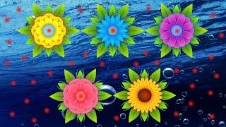 САМОРАСКРЫВАЮЩИЕСЯ НА ВОДЕ ЦВЕТЫ Self-extracting FLOWERS ON WATER(Сегодня Sashа сделала бумажные самораскрывающиеся на воде цветы и у неё это получилось, пробуйте и вы! Today,..., 2016-06-22T15:58:19.000Z)