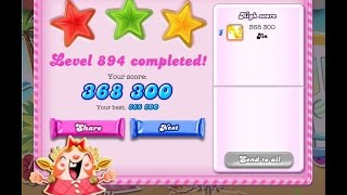 Candy Crush Saga Level 894     ★★★   NO BOOSTER