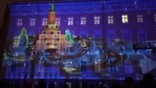 """Лазерное шоу на Дворцовой площади в Санкт Петербурге- """" Полетели в 2017!"""""""