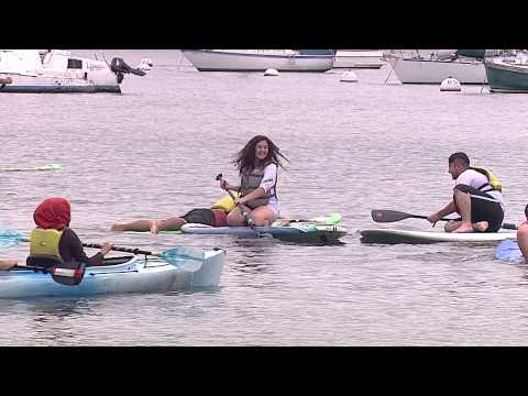 Refugee Students Experience Coronado Beach In Outreach Event