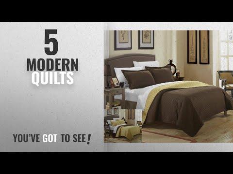 Top 10 Modern Quilts 2018: Chic Home 3 Piece Teresa