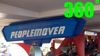 The People Mover Full Ride INTERACTIVE  360˚ HD Magic Kingdom Walt Disney World