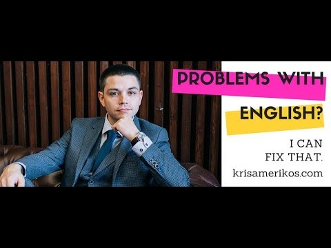 English With Kris Amerikos - Channel Intro - Learn English online free video lessons