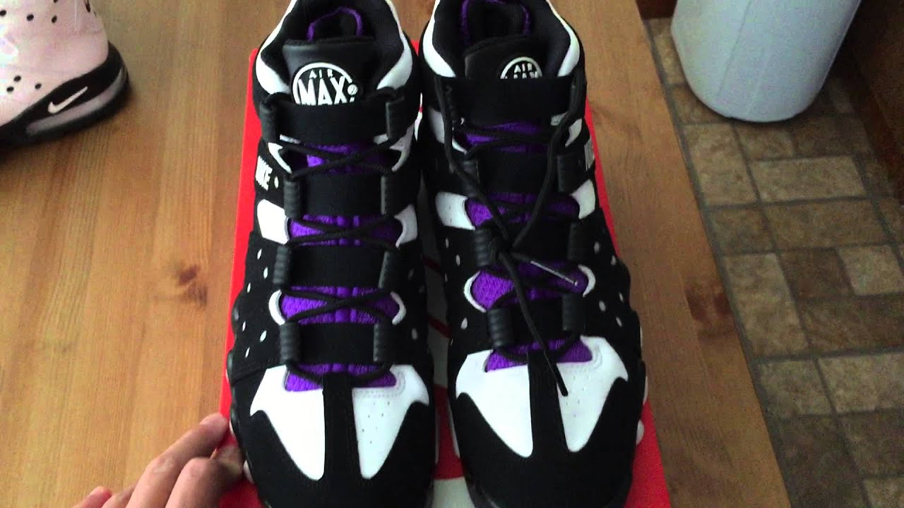 e2c170feb5 nike air max2 cb 94 black white purple 2015 and white black old royal  painted lace locks