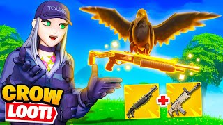 CROW ONLY LOOT in Fortnite (hard)