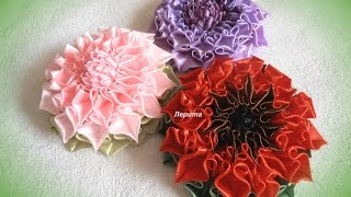 Канзаши, как сделать красивые цветы из лент,  лепесток