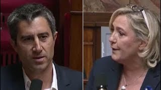 François Ruffin face à Marine Le Pen à l'Assemblée