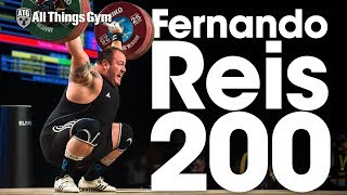 His First 200kg Snatch in Competition! Fernando Reis at 2017 World Weightlifting Championships
