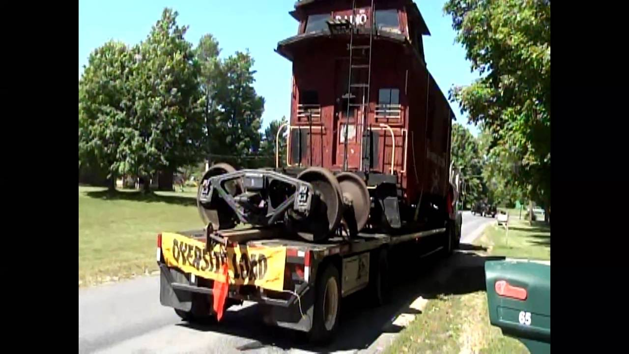 NJ Caboose on the Move  6-14-12