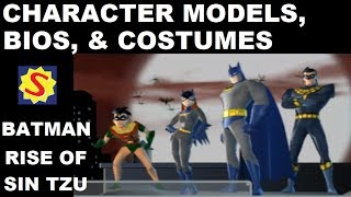 3D Model Viewer, Bios, & Alternate Costumes - Batman: Rise of Sin Tzu