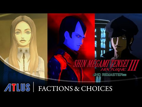 Shin Megami Tensei III Nocturne HD Remaster — Factions & Choices Trailer | PS4, Nintendo Switch, PC
