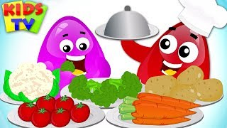 Learn Vegetables with Crazy Eggs | Learning Videos for Children by Kids TV