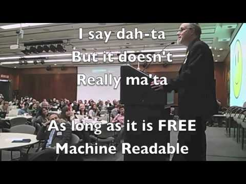 The Open Data Song (Acapela Version)