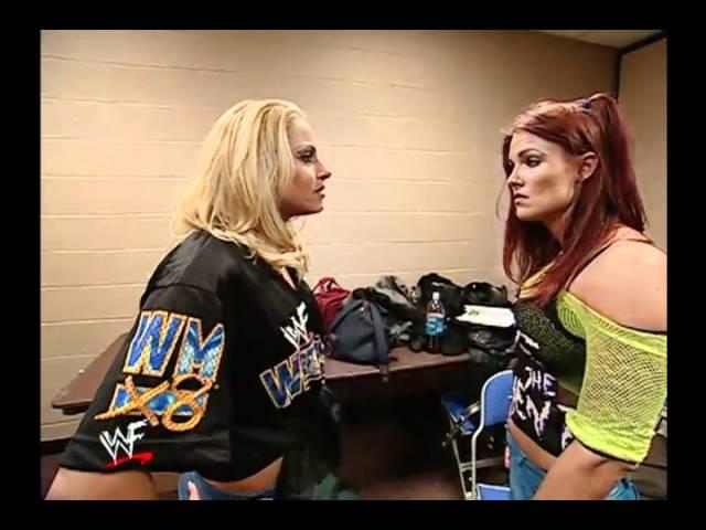 Trish and Lita backstage