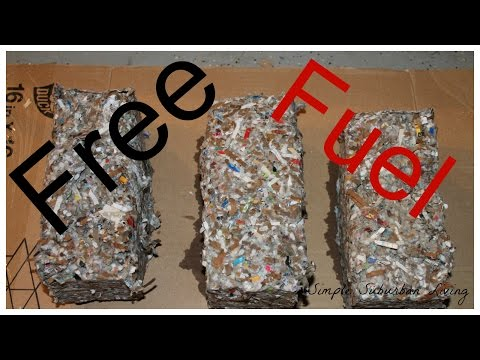 Free Fuel for Your Fire - Making and using paper briquettes for fuel