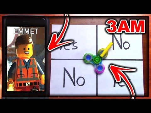 DO NOT PLAY CHARLIE CHARLIE FIDGET SPINNER WHEN CALLING EMMET (FROM LEGO MOVIE 2) AT 3AM!!