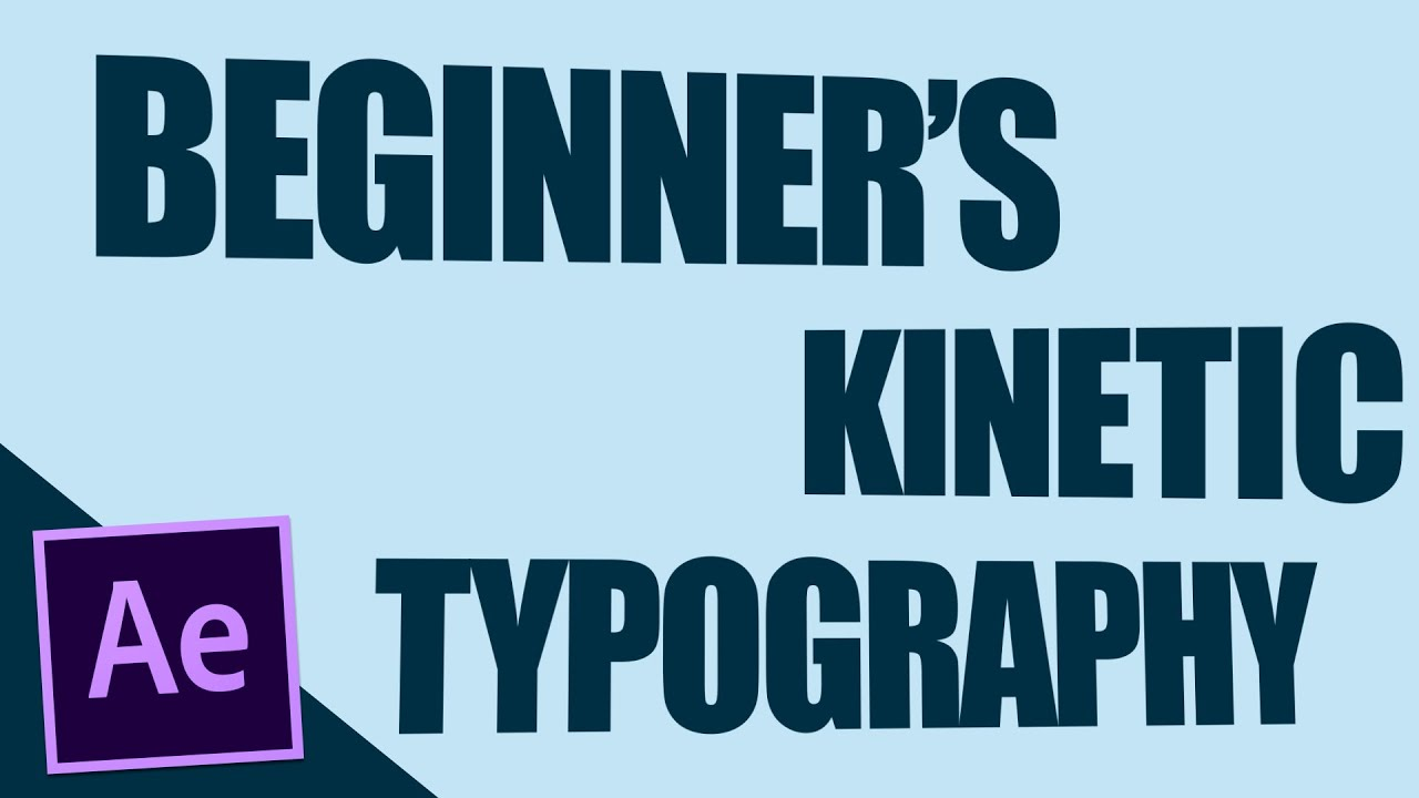 beginner s kinetic typography after effects tutorial youtube