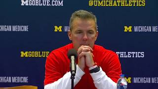 Ohio state head coach urban meyer says he can't believe let someone on his own sideline injure qb j.t. barrett and is going to find out who it was. ✔ s...