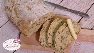 Bärlauch-Ciabatta | schnell, lecker & luftig | BROT SELBST BACKEN ♥ | Rezept von Nicoles Zuckerwerk