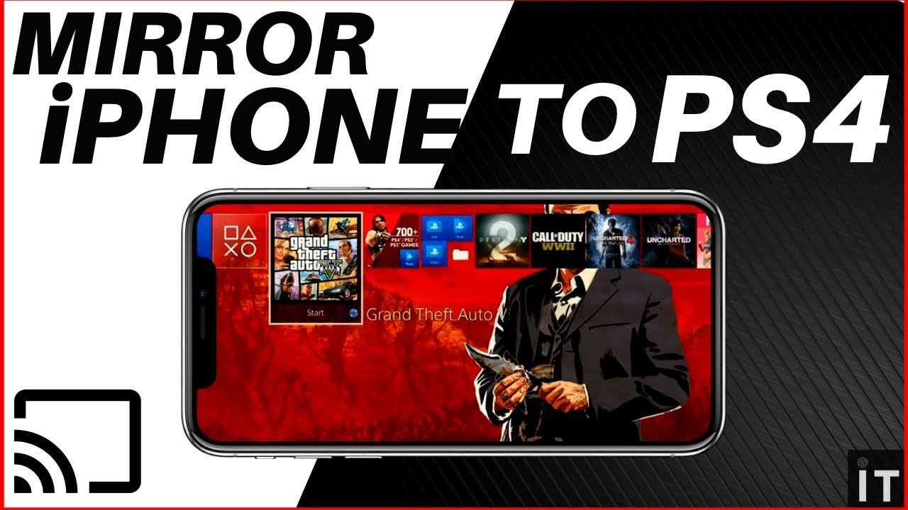 HOW TO MIRROR ANY iPHONE TO PS4   EASIEST WAY   - YouTube