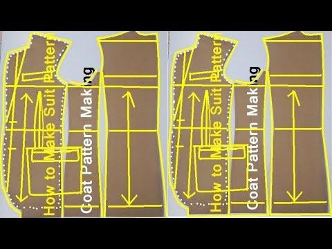 "Pattern making ""suit pattern making"" ""pattern making"" ""jacket patterns""How to make coat pattern"