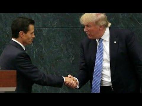 Donald Trump strikes presidential tone in Mexico City