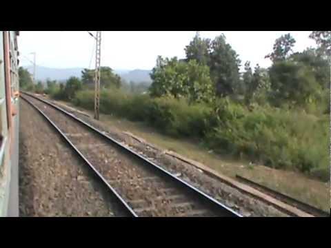 Ascending up the Gurpa- Gujhandi Ghat section in the Chota Nagpur Hills: ASR- SDAH Express