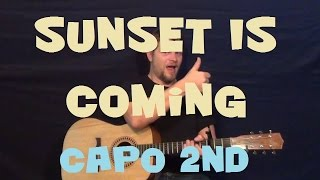 Sunset Is Coming (Chuck Wagon Gang) Easy Strum Guitar Lesson How to Play Tutorial Capo 2nd Fret
