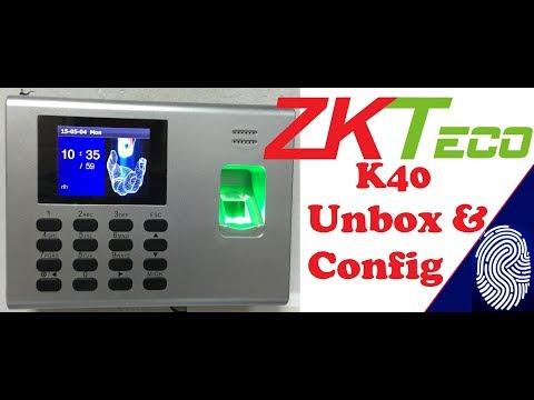 K40-Pro - ZKTeco Biometrics Unboxing & How to configure ZKTEco Biometric Attendance Device
