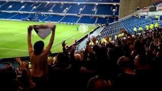 Motherwell fans Twist & Shout at Ibrox May 2015