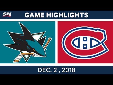 NHL Highlights | Sharks vs. Canadiens - Dec 2, 2018